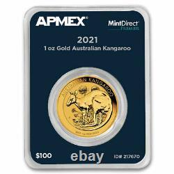 2021 Australia 1 oz Gold Kangaroo (MintDirect Premier Single) SKU#217670