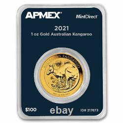 2021 Australia 1 oz Gold Kangaroo (MintDirect Single) SKU#217673