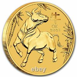 2021 Australia 1 oz Gold Lunar Ox BU (Series III) SKU#217528