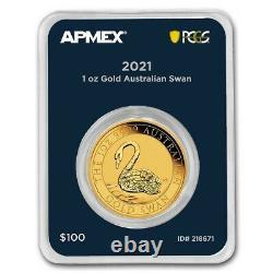 2021 Australia 1 oz Gold Swan (MD Premier Single + PCGS FS) SKU#218671