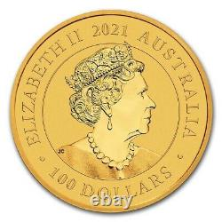 2021 Australia 1 oz Gold Swan MS-70 PCGS (FD, Swan Label) SKU#227386