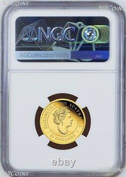 2021 Australia 95 privy mark Sovereign 1/4 oz GOLD $25 coin NGC PF70 FR with OGP