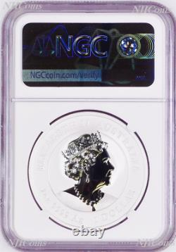 2021 Australia GILDED Silver Lunar Year of the OX NGC MS 70 1oz Coin FR GILT
