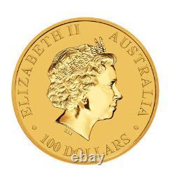 2021 Gold 1 oz Australian Gold Kangaroo $100 Coin. 9999 Fine BU Coin