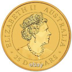 2021 P Australia Gold Kangaroo 1/4 oz $25 BU