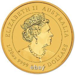 2021 P Australia Gold Lunar Series III Year of the Ox 1/20 oz $5 BU
