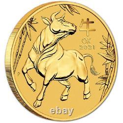 2021 P Australia Gold Lunar Series III Year of the Ox 1/2 oz $50 BU