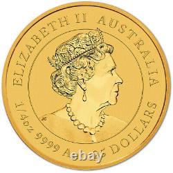 2021 P Australia Gold Lunar Series III Year of the Ox 1/4 oz $25 BU