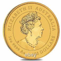 2022 1 oz Gold Lunar Year of The Tiger BU Australia Perth Mint In Cap