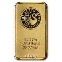 20 gram Gold Bar The Perth Mint (In Assay)