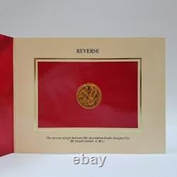 22ct 10gr Gold Uncirculated Australian Coin $200 1985 Koala In Pack #53592