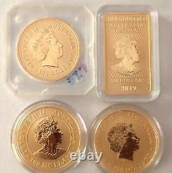 4- Australian 1 Oz, 9999 Fine Gold Coins/bar 1999, 2016, 2019, 2020 See Gold