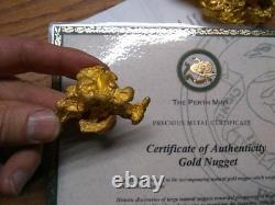 4+ oz gold nugget Lunker with Cert of authenticity Perth Mint Austrialia