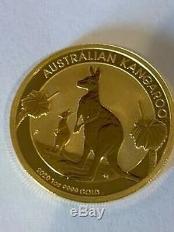 (5) 1 Oz 9999 Fine Gold 2020 Australian Kangaroo $100 Coins & 5 Credit Suisse