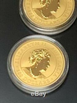 (5) Credit Suisse 1 Oz Gold Bars & (5) 2020 1 Oz Australian Kangaroo Gold Coins