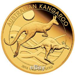 AUSTRALIAN KANGAROO 2018 1/4oz GOLD PROOF COIN
