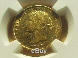 Australia 1864 Gold 1/2 Sovereign Coin Km#3 Ngc Xf Details