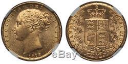 AUSTRALIA Victoria 1878-S AV Sovereign NGC MS63 Sidney KM 6 Rare in this quality