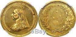 AUSTRALIA Victoria 1888 AV Medal NGC PR63 Cameo Melbourne Int'l Exhibition Medal