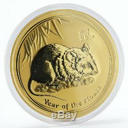 Australia 1000 dollars Year of the Mouse Lunar 10 oz gold coin 2008 Mintage 128