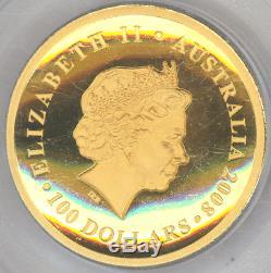 Australia $100 2008-P KOALA PCGS-Gem Proof DCAM HIGH RELIEF 1 oz. Gold, Beauty