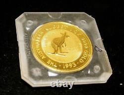Australia 100 Dollars Gold Coin C 1993 Queen Elizabeth II -1 Oz Kangaroo
