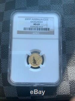 Australia 15 dollars Australian Kangaroo Bullion gold coin 1/10 oz 2009