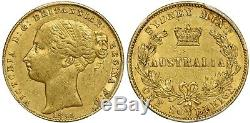 Australia 1855(Sy) Gold Sovereign Queen Victoria PCGS AU53