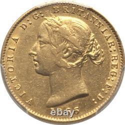 Australia 1866 Victoria Half Sovereign PCGS AU-50 (Catalog value $7,700 in XF)
