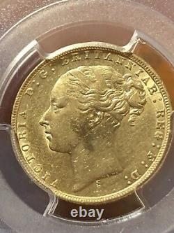 Australia 1872-S Sydney Gold Sovereign PCGS AU Details S-3858A