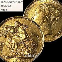 Australia 1879 S Sovereign Ngc Au55 Sydney Gold R46