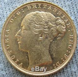 Australia 1886-M Gold 1 Sovereign