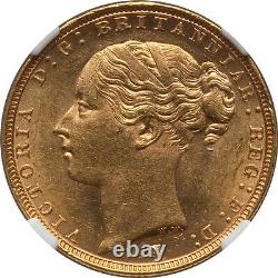 Australia 1886-M Victoria gold Sovereign St. George NGC MS-62