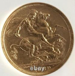 Australia 1889M Sovereign Gold NGC Certified XF-45
