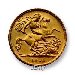 Australia 1912 1/2 Sovereign Gold Coin SKU# 7300