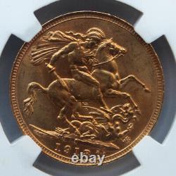 Australia 1918-s Gold Sovereign. George V. Sydney Mint. Ngc Ms-64