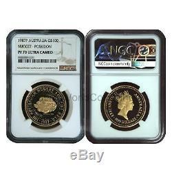 Australia 1987P Nugget Poseidon $100 Gold NGC PF70 ULTRA CAMEO SKU# 6623