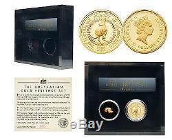 Australia 1998 1/2 oz Gold & Nugget Heritage Set with Box & COA