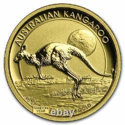 Australia 1/10 oz Gold Kangaroo/Nugget BU (Random Year) SKU #22944