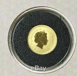 Australia 1/20 Ounce Gold Lunar Horse World of Gold Coins Passport