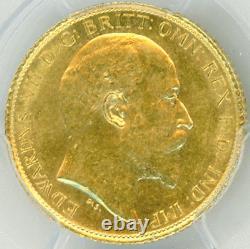 Australia 1/2 Sovereign 1910-S EDWARD PCGS-AU58 gold, Secure Holder