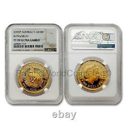 Australia 2000 Kangaroo $100 1 oz Gold NGC PF70 ULTRA CAMEO SKU# 7033