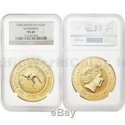 Australia 2000 Kangaroo $200 2 oz Gold NGC MS69