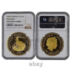 Australia 2000 Kangaroo $200 2 oz Gold NGC PF67 ULTRA CAMEO SKU#6264