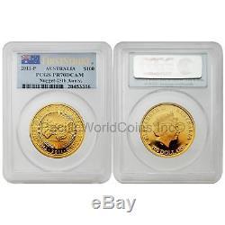 Australia 2011 Nugget 25th Anniv. $100 1 oz Gold PCGS PR70 DCAM SKU#6776