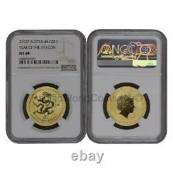 Australia 2012 Year of Dragon $50 1/2 oz Gold NGC MS69 SKU#6684