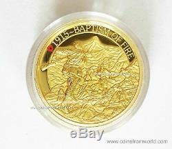 Australia 2015 200$ ANZAC Spirit Baptism Of Fire 2oz Gold High Relief Coin COA 1