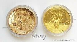 Australia 2015 2016 2 x 500$ Kimberley SUNRISE SUNSET Diamond 2oz Gold Coin SET