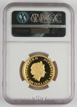 Australia 2016 $100 1 Oz Gold Wedge-Tailed Eagle Coin High Relief NGC PF70 +OGP