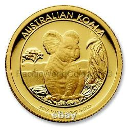 Australia 2017 Koala 1/10 oz Gold Proof Coin with Box and COA SKU# 7709